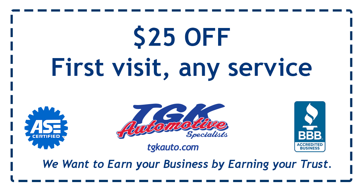 25 dollars off any service, only on your first visit. See store for details.